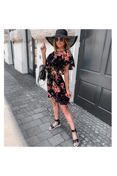 Megkötős derékú mini ruha - Black