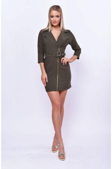 Aszimmetrikus blézer ruha - Khaki