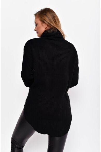 Kámzsás nyakú pulóver
