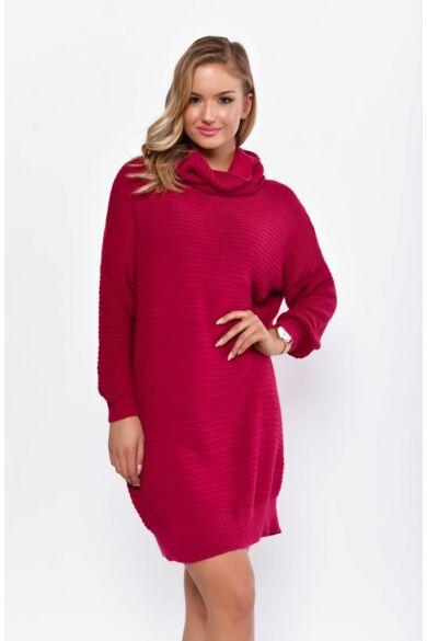 Kámzás nyakú hosszított pulóver - Purple