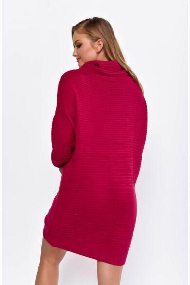 Kámzsás nyakú hosszított pulóver