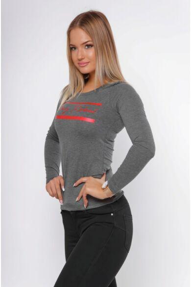 Nyomott mintás póló - Dark Grey