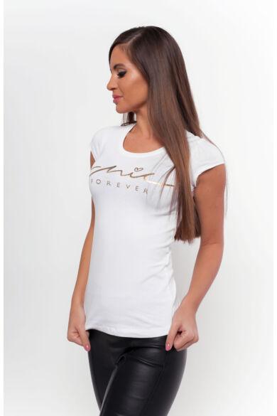 Nyomott mintás póló - White