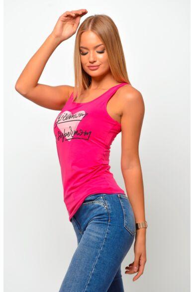 Nyomott mintás felső - Hot Pink