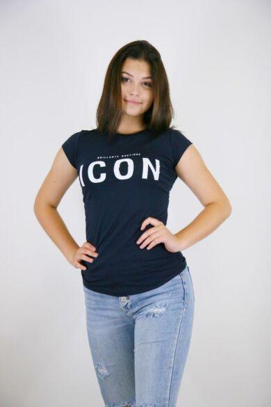 """Mintás póló """"ICON"""" felirattal"""