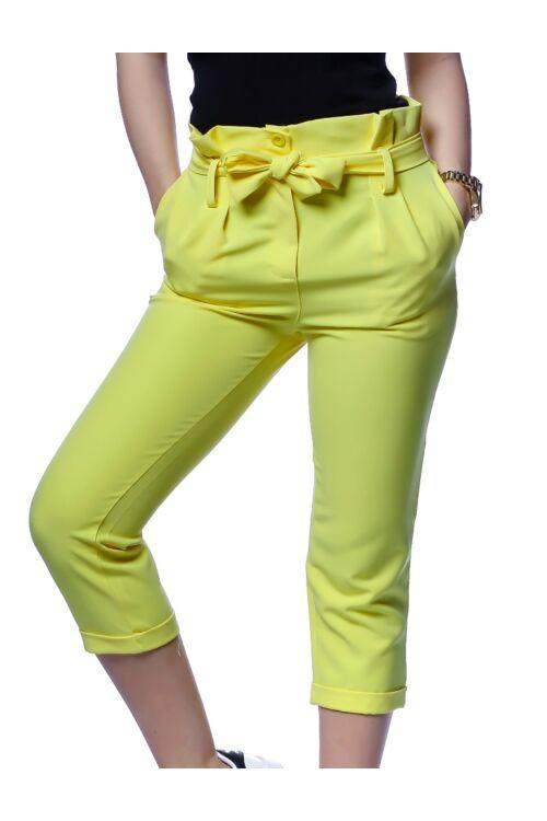 Magas derrekú,megkötős nadrág - Yellow