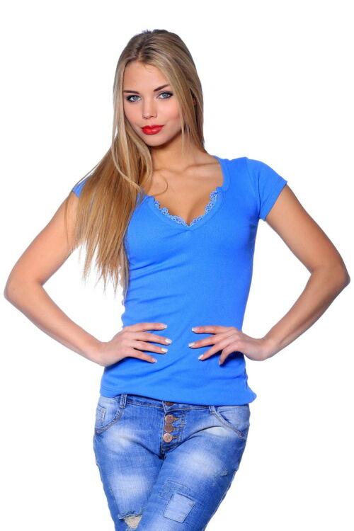 Bordás felső - Denim Blue