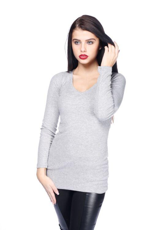 Bordás felső - Melange Grey