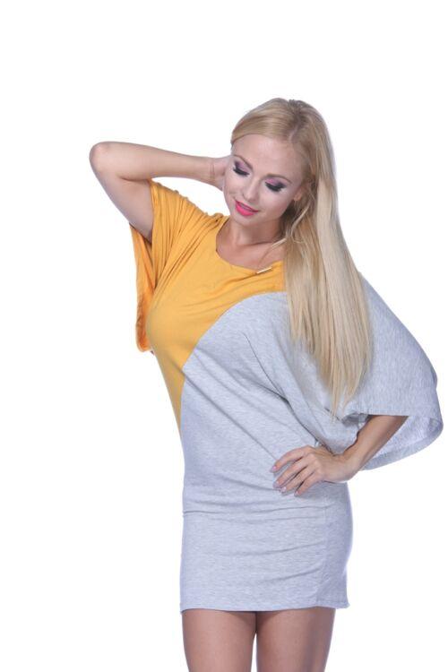 Mini ruha - Mustard - Melange Grey
