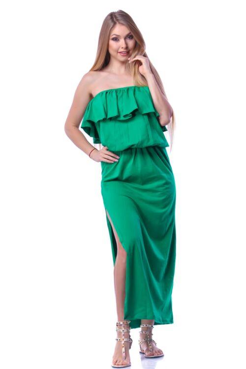 Fodros maxi ruha - Green
