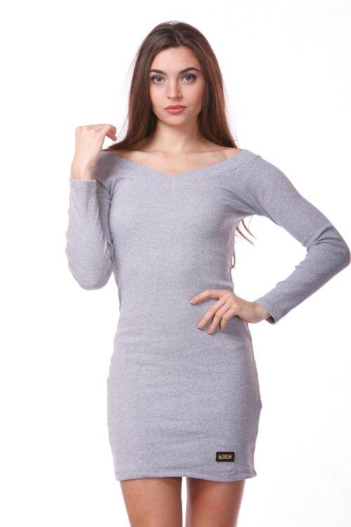Hosszú ujjú felső - Melange Grey