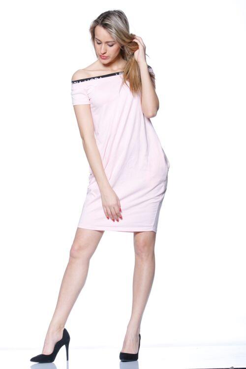 Nyitott vállú mini ruha - Quartz Rose