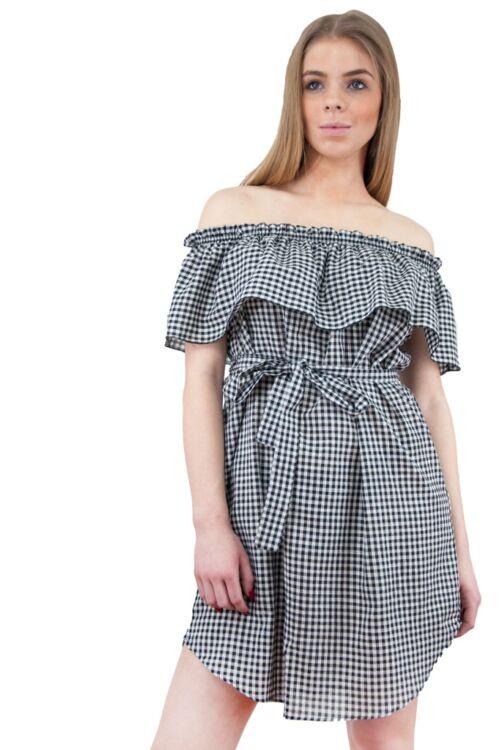 Mini ruha - Black - White