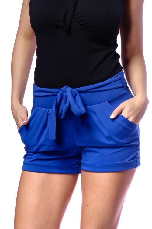 Megkötős, zsebes rövid nadrág - Rolyal Blue