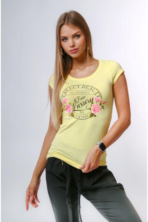 Nyomott mintás póló - Yellow