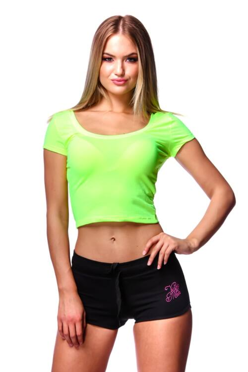 Neon színű crop top - Neon Yellow