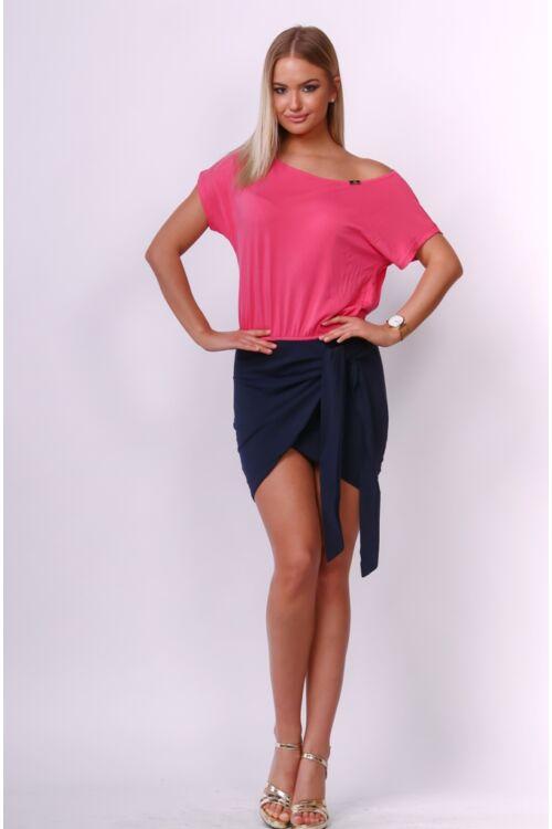 Mini ruha - Dark Blue - Hot Pink
