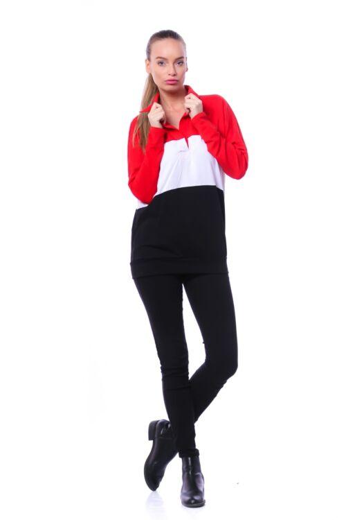 Hosszú ujjú felső - Black - White - Red
