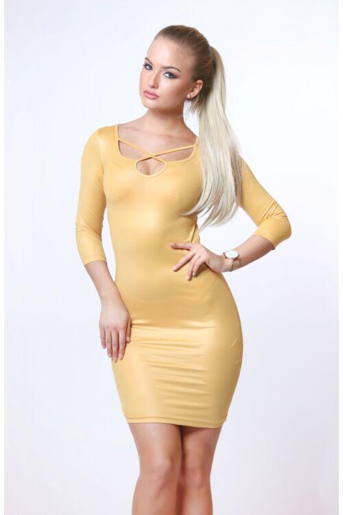 Mini ruha - Mustard