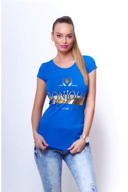 Nyomott mintás póló - Classic Blue
