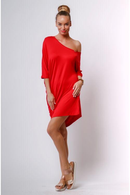 Aszimmetrikus mini ruha - Red