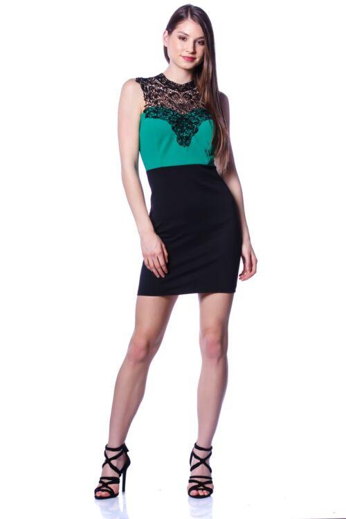 Mini ruha - Black - Green