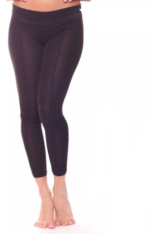 Vastag gumis, varrott leggings - Black
