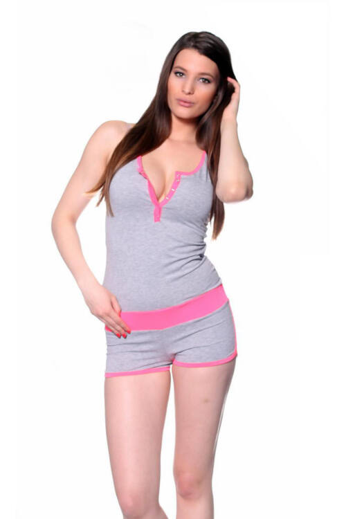 Body - Melange Grey Neon Pink